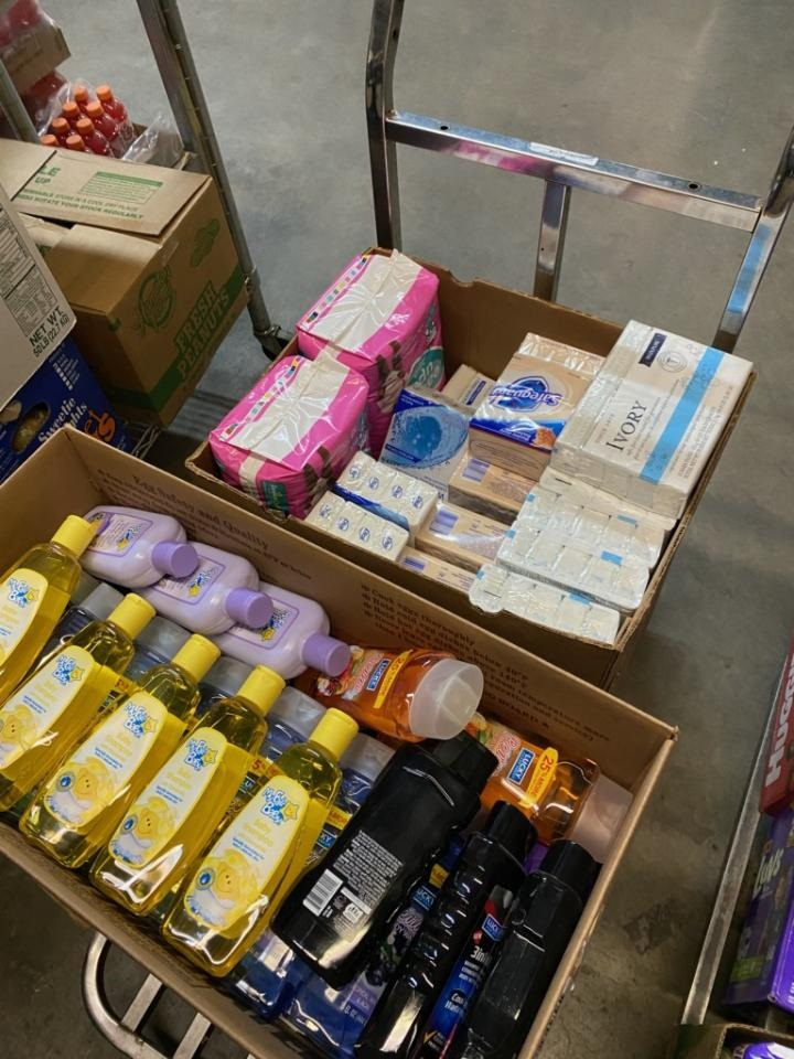 Hygiene items collected.